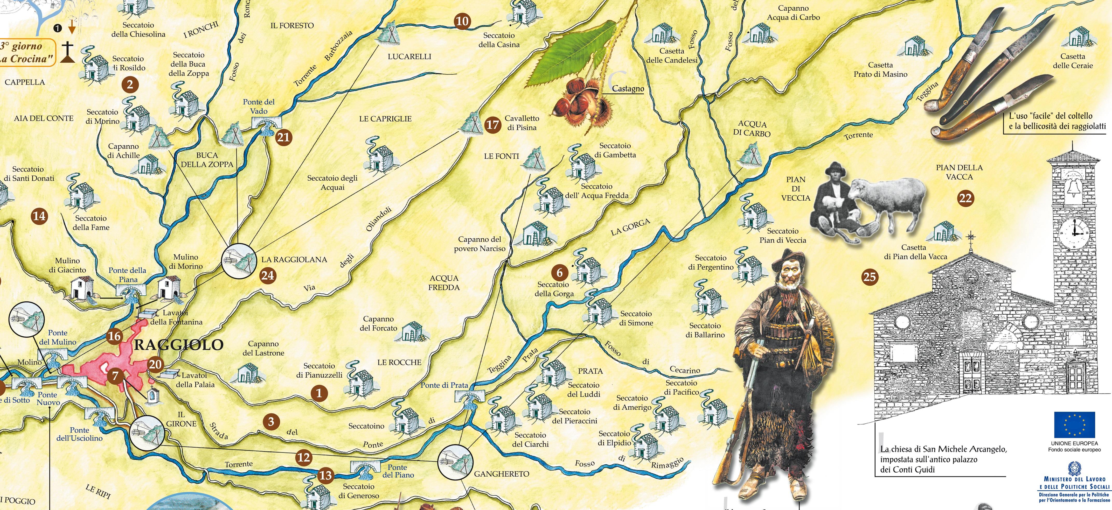 Mappa Raggiolo
